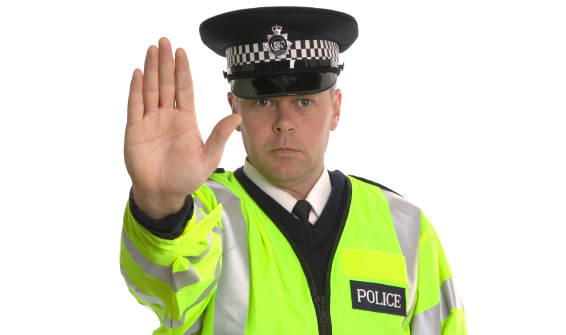 police officer demanding you to stop because you don't have the correct business car insurance
