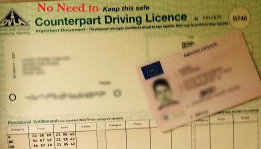 DVLA Scrap Paper Counterpart for Online Driving Licences Header Image