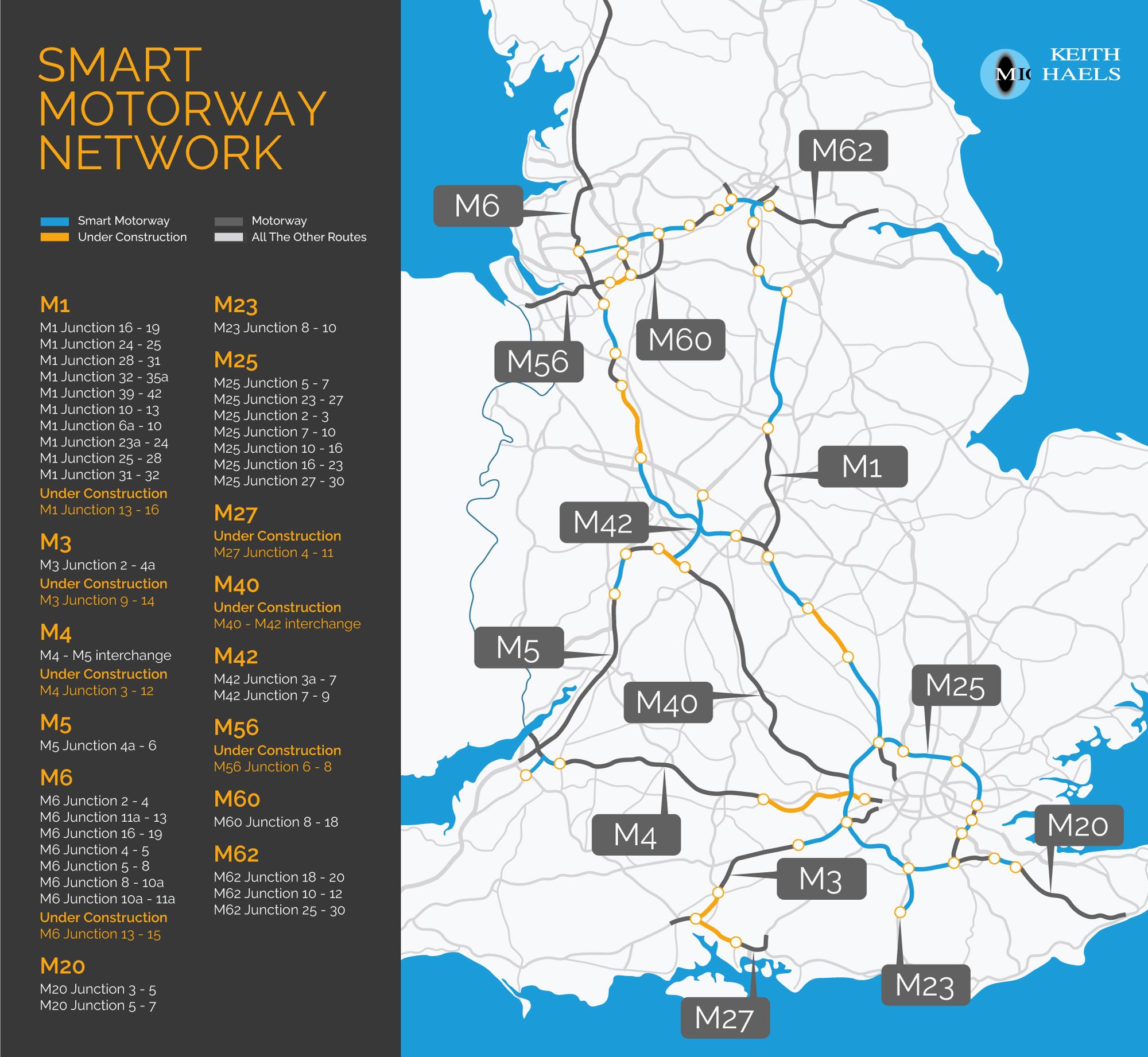 Smart Motorways – Smart Motorway Map Header Image